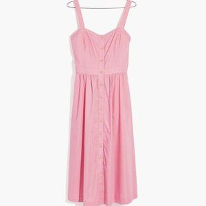 Madewell Pink Fleur Bow Back Dress